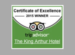 Trip Advisor Certificate of Excellence King Arthur Hotel Wedding Venue Hotel Cottages South Wales