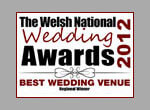 the welsh national wedding awards 2012 best wedding venue colour