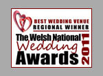 best wedding venue regional winner the welsh national wedding awards 2011 - colour