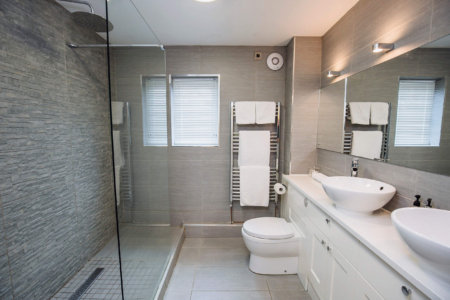 rooms with wetroom bathroom near swansea