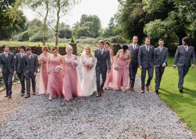 Photos in landscaped gardens wedding Gower, Swansea