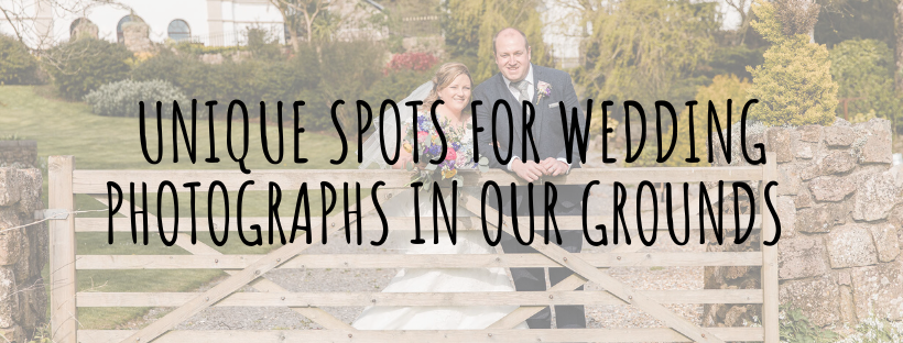 Unique spots for wedding photography at our Gower venue