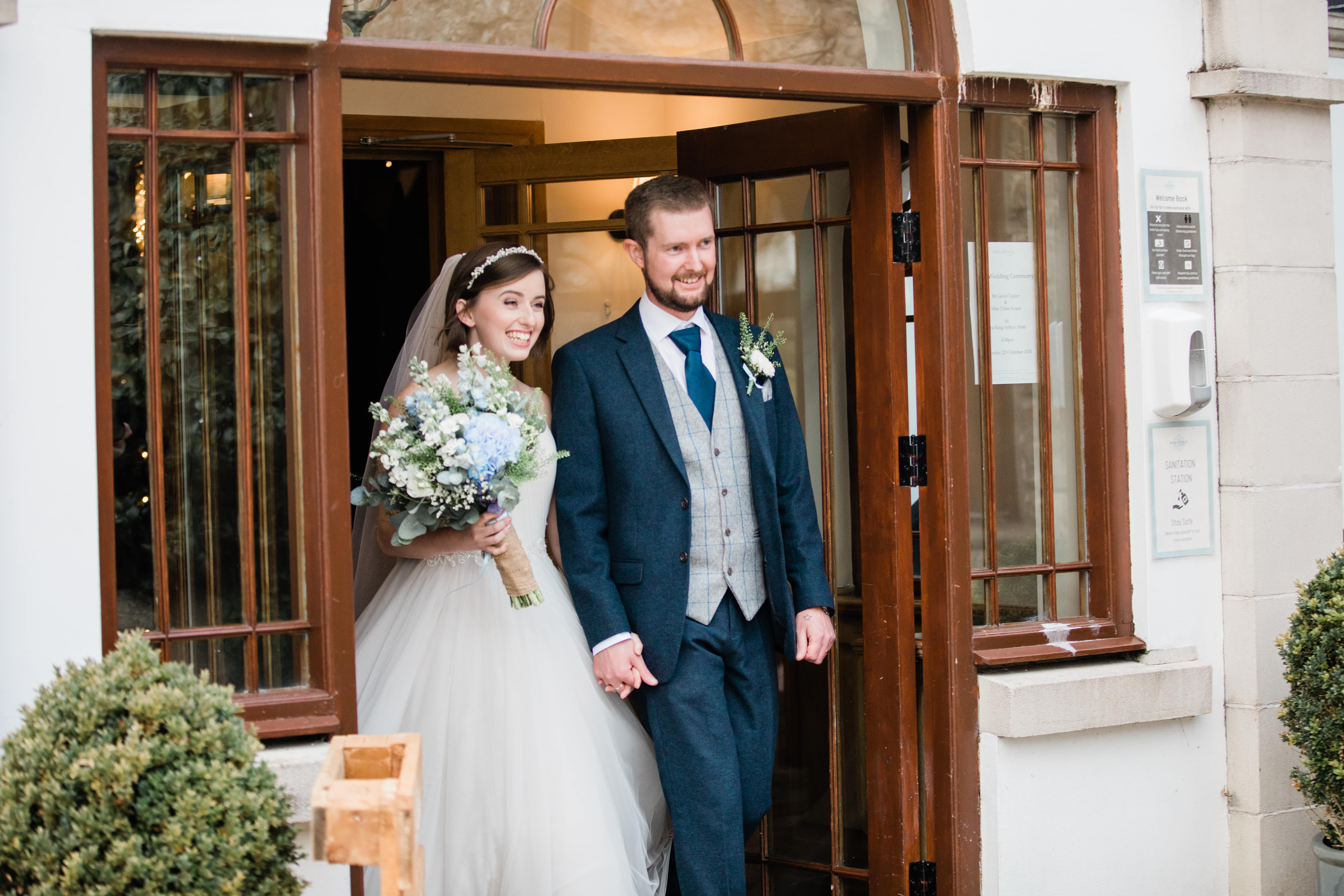 socially distanced swansea wedding